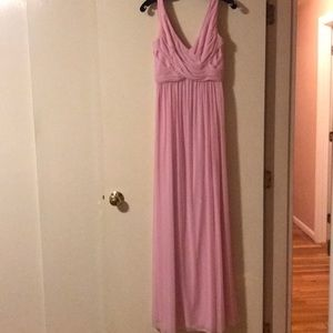David's Bridal Long Baby Pink Dress
